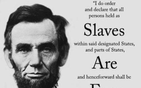 Lincoln abolishing slavery