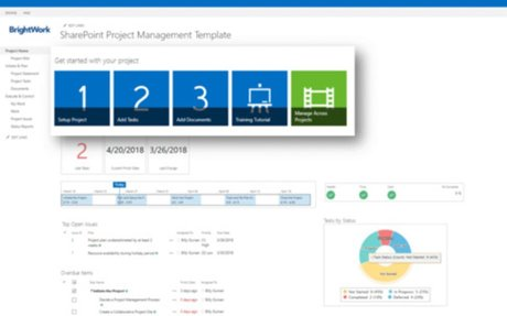 Free Project Management Template for SharePoint