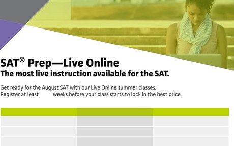 SAT Summer Online with discount