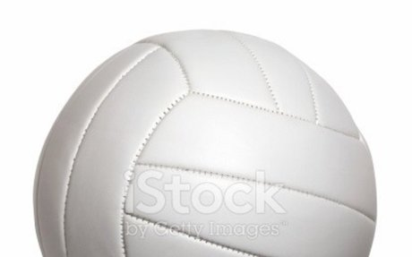 White volleyball isolated on a white background