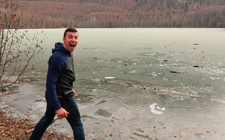 Why Does A Frozen Lake Sound Like A Star Wars Blaster?