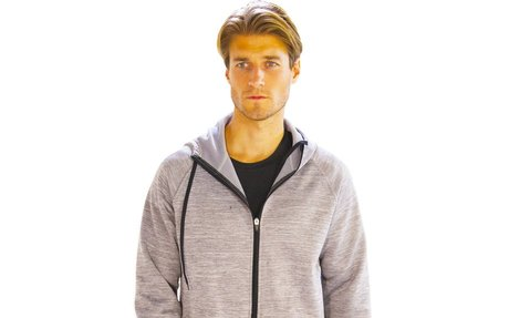 Plain Hooded Running Jacket for Man