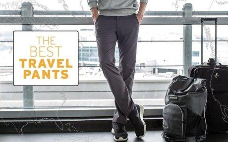 Best Travel Pants (Gray)   Men's Wrinkle-Resistant Travel Pant...