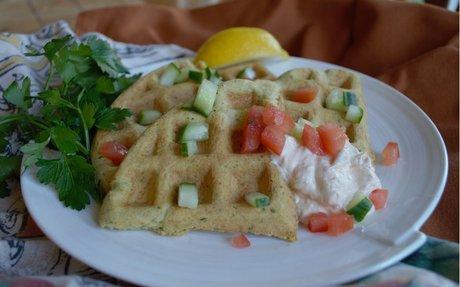 Gluten Free Falafel Waffle