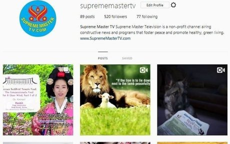 Supreme Master Television Instagram (English)