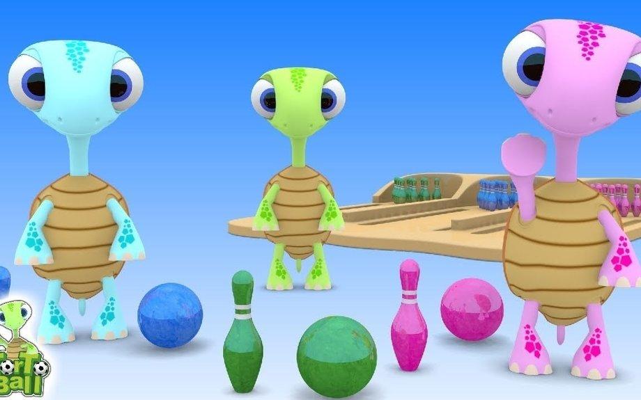 BOWLING BALLS Lightning Turtles Funny For Children and Kids | Torto Balls