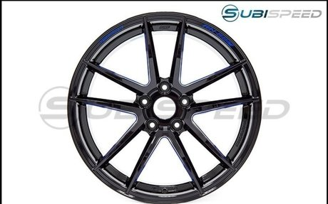 Wedssport RN55M 18x9.5 +38mm Black Blue Machine - 2015+ WRX / STI