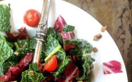 Easy Lentil Kale Salad