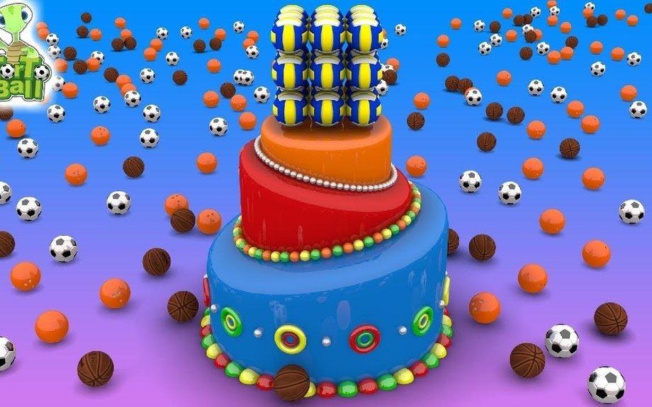 LEARN BALLS Tower Basketball soccer ball bowling ball Fun For Kids and Children | Torto Ba