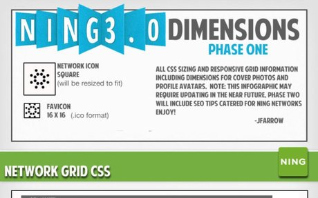 Gift to NCs: Ning 3.0 Dimensions Infographic