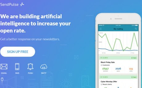 SendPulse is a platform which offers multiple channels of communication with customers: em