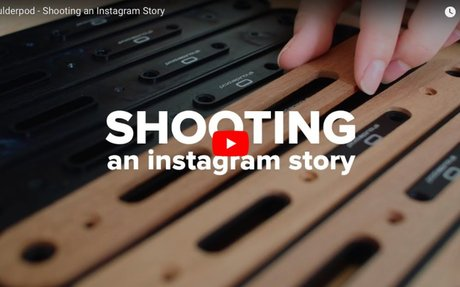 Shooting an Instagram Story with Shoulderpod