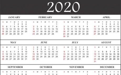 Free Printable Calendar 2020 Template in PDF, Word, Excel | Calendar Wine