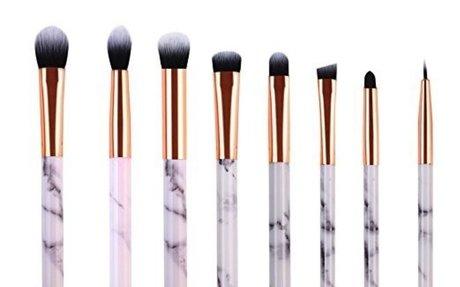 Amazon.com: Marble Makeup Brush Set - Marble Eyeshadow Brushes Set Angled Eyeliner Brush L