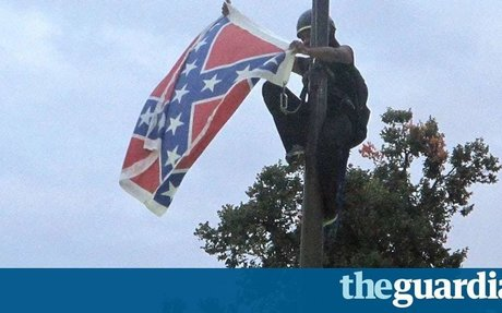 Activist pulls down Confederate flag in front of South Carolina statehouse