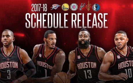 2017-18 Rockets Schedule