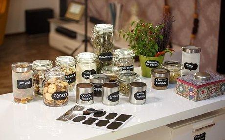 Amazon.com : Chalkboard Labels Complete Bundle: 73 Premium Stickers for Jars + Erasable Wh