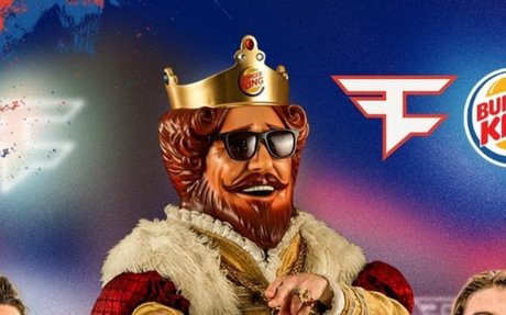 Burger King mascot streams with esports stars to promote Impossible Whopper