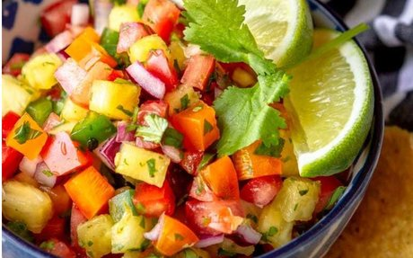 Spicy Jalapeno Pineapple Salsa