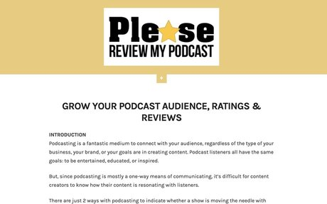 Please Review My Podcast – Podcast Review Platform – Just another WordPress site