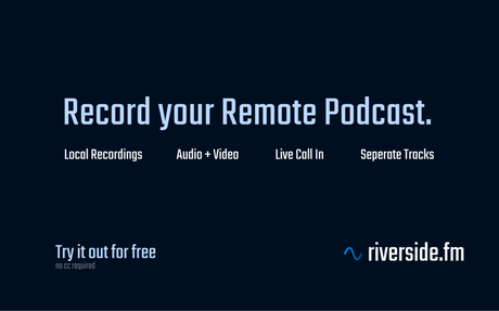 Riverside.fm: Record your remote podcast with video + local audio and let your listener...
