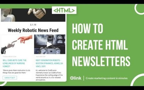 How to Create HTML Email Newsletters for any Email Service