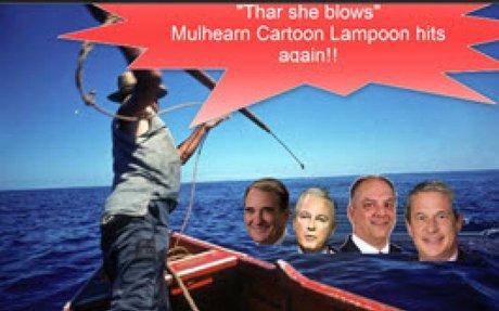 Mulhearn Cartooning Tauzin, Governors Edwards, Vitter Lampoons