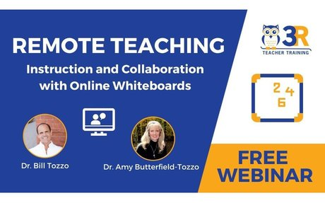 FREE WEBINAR - Remote Teaching - Instruction and Collaboration Using Online Whiteboards...