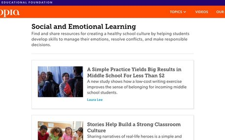 Social and Emotional Learning | Edutopia