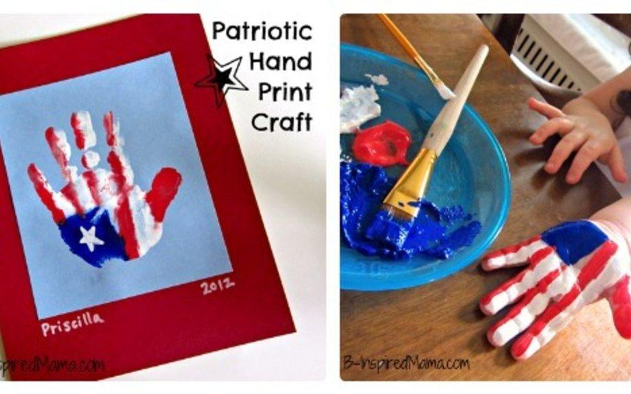 Cute American Flag Handprint
