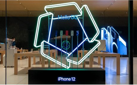 DESIGN // Apple Stores Add Glowing Window Displays For iPhone 12 Launch