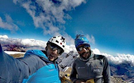 Karl Egloff y Nico Miranda abren Directa Ecuador a la cara sur del Aconcagua en 24:50 h...