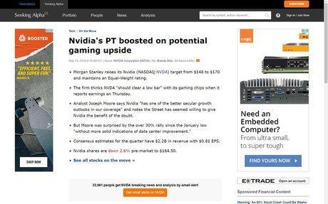 Nvidia's PT boosted on potential gaming upside