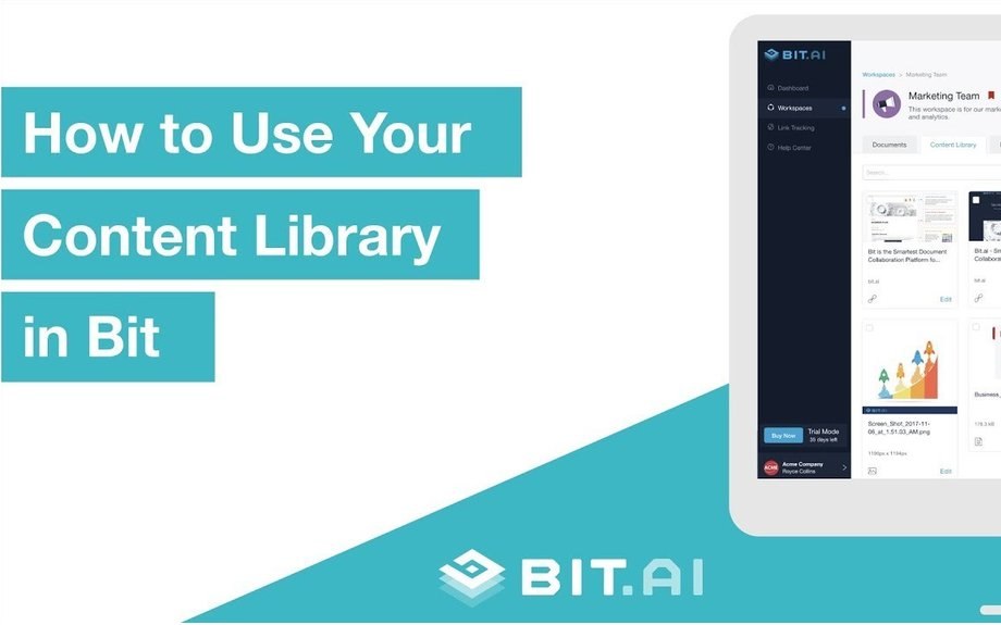 Content Library Basics  | Bit.ai | Smartest Documents on the Planet