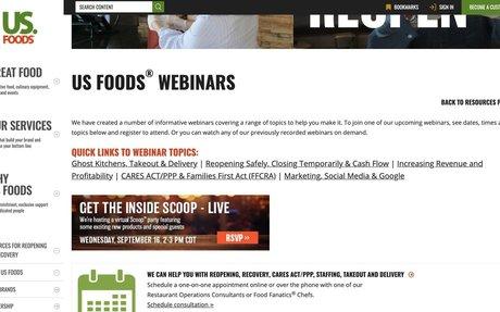 US Foods Webinars