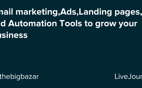 Email marketing,Ads,Landing pages, and Automation Tools to grow your Business