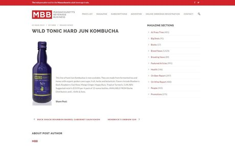 WILD TONIC HARD JUN KOMBUCHA