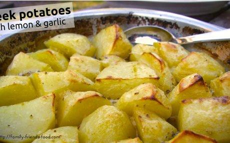 Greek Potatoes w/ Lemon & Garlic