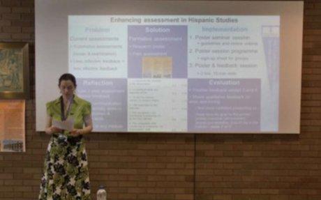 Rocio Perez-Tattam : Enhancing assessment in Hispanic Studies – The poster presentation...