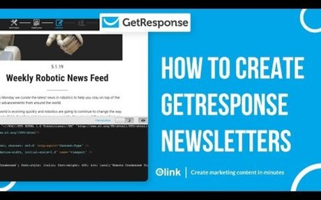 How to Create Get Response Email Newsletters in Minutes