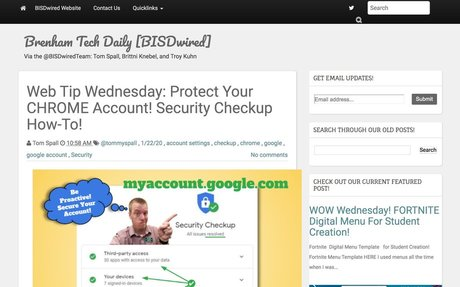 Web Tip Wednesday: Protect Your CHROME Account!  Security Checkup How-To!