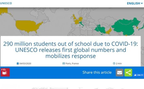 290 million students out of school due to COVID-19: UNESCO releases first global numbers..