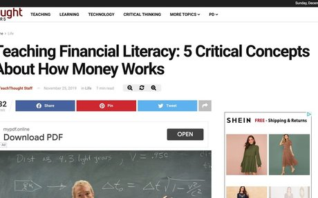 Teaching Financial Literacy: 5 Critical Concepts About How Money Works -