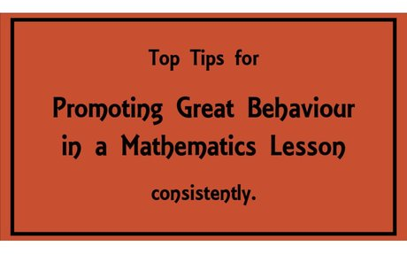 Behaviour Management in a Mathematics Lesson