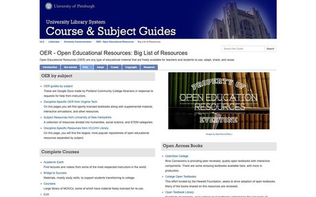 LibGuides: OER - Open Educational Resources: Big List of Resources