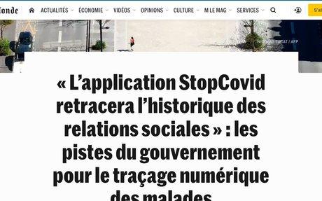 «L'application StopCovid retracera l'historique des relations sociales»: les pistes ...
