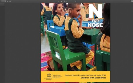 N for nose: state of the education report for India 2019; children for disabilities