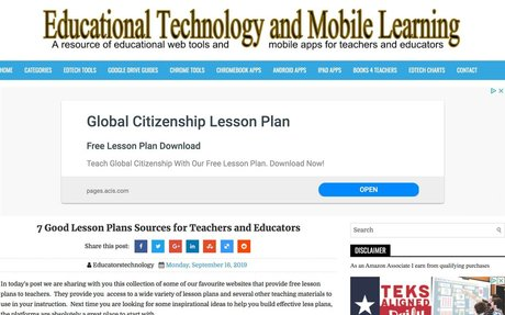 7 Good Lesson Plans Sources for Teachers and Educators