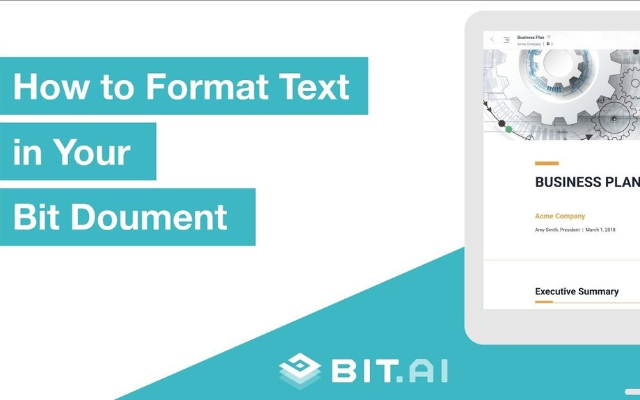 How To Format Text in Bit Documents | Bit.ai | Smartest Documents on the Planet
