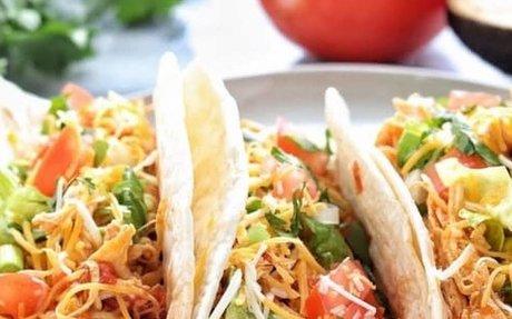 Instant Pot Shredded Chicken Tacos Recipe | Yummly